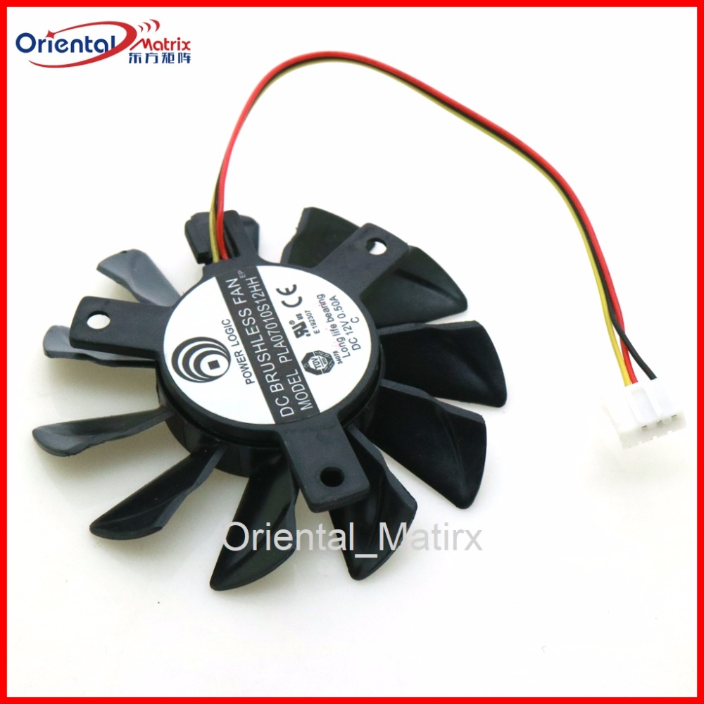 Free Shipping PLA07010S12H 12V 0.50A 65mm 40*40*40mm VGA Fan For MSI Graphics Card Cooling Fan 4Pin 3Wire free shipping cooling fan for aub0812vh 8g76 12v 0 41a gx318 mitsubishi projector meter