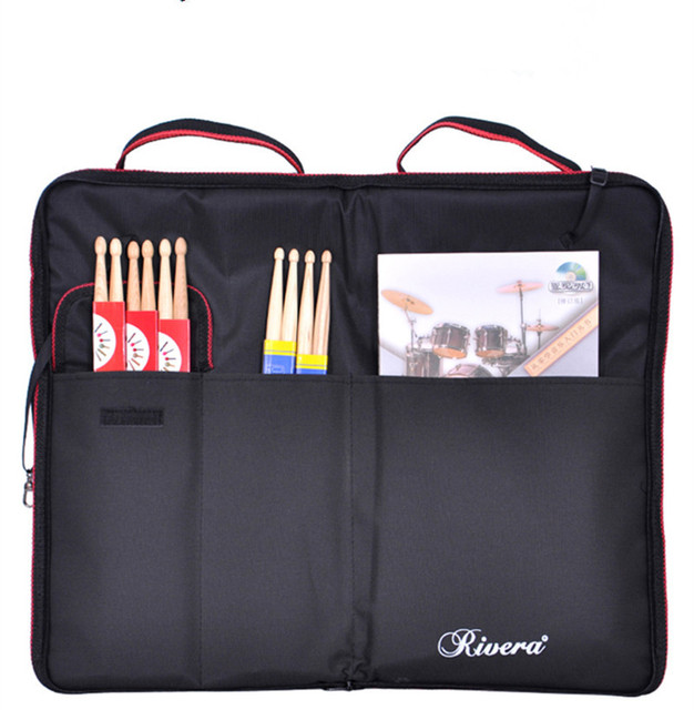 professional luxury notex durable drum stick Bags drumstick brush spectrum carrying cases gig bags padded cover can hold 20 pair
