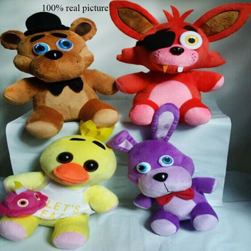 Hot 4pcs//set FNAF Five Nights at Freddy/'s Chica Bonnie Foxy Plush Doll Toy Gift