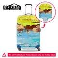 Dispalang elástico do vintage mala de bagagem capa protetora para 18-30 polegada de espessura protector covers 3d pintura capa de poeira à prova d' água