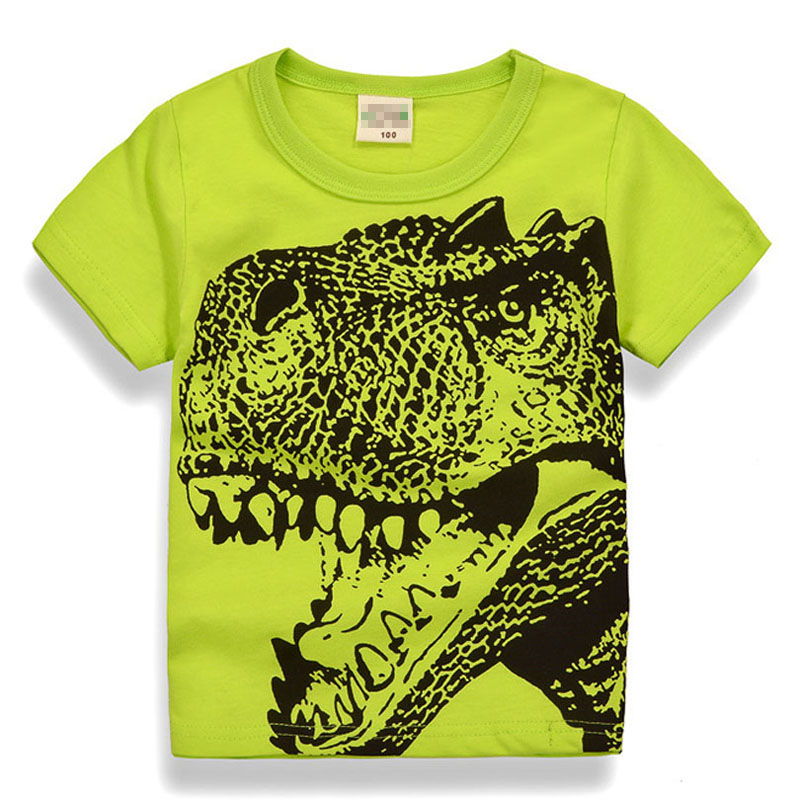 Cartoon Dinosaur T Shirt Boys 2018 Summer Children's Clothing Toddler cotton Tops tee baby Boy Kids bebe T-shirt 2-7Years teens