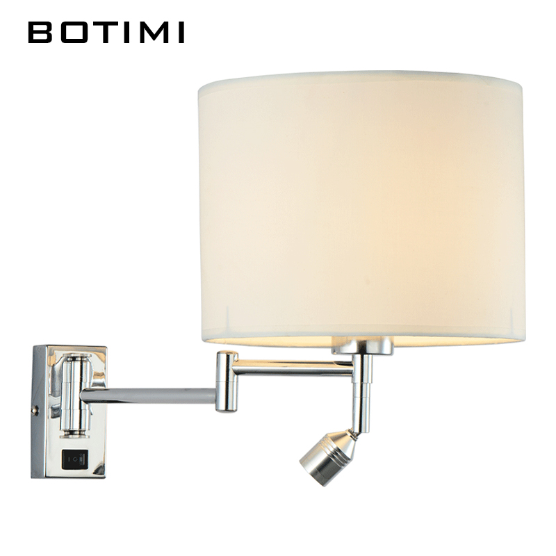 ФОТО BOTIMI LED bedside wall lamp for living room applique murale luminaire wall sconce for bedroom modern hotel project lighting