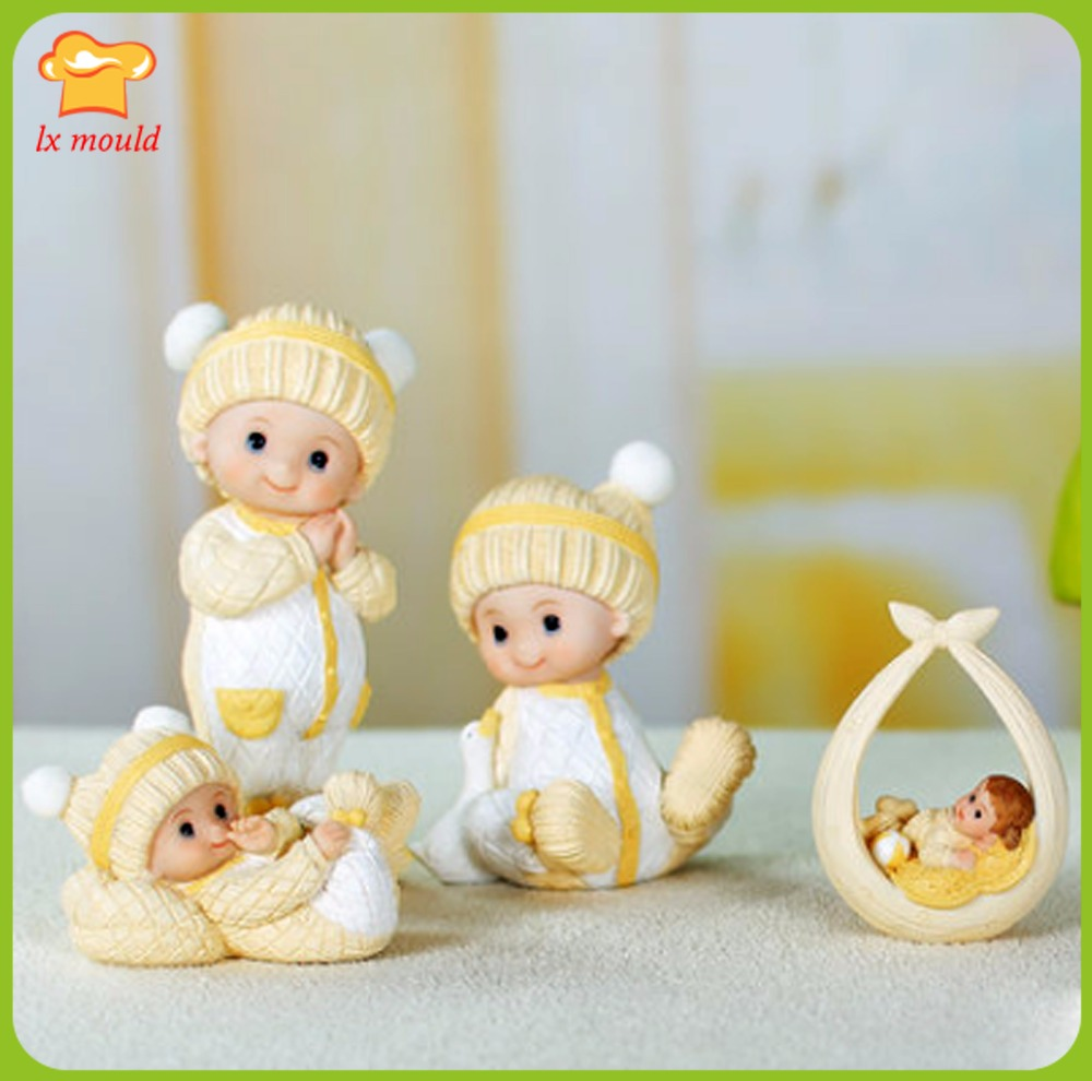 LXYY original cartoon yellow cute decorative dolls creative wedding soap mold doll silicone candle mold