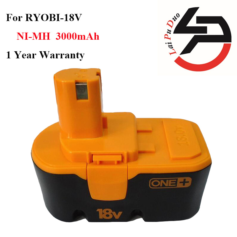Hot!! 3.0Ah 18V Ni-MH Replacement Power Tool Battery for RYOBI:1400672,B-1815-S,1322401,BCP1817,B-8288,ABP1801,130224007,RY-1804