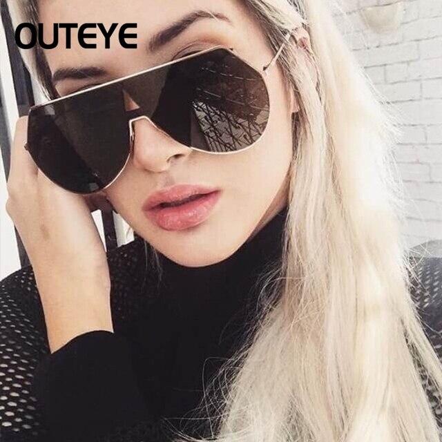4d2237cb6fd43 Fashion Sunglasses Luxury Brand Designer Women Oversized Mirror Sun glasses  Vintage Metal Men Female UV400 Shades Goggle Eyewear