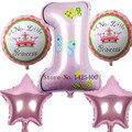 NewHappy украшения для дня рождения Количество шар розовый Голубой baloon Гелий Фольгированные Шары Ребенок 1-й день рождения воздушные шары globos Воздушные Шары