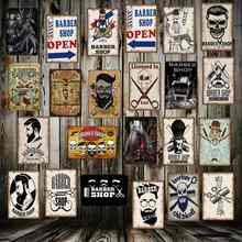 [ WellCraft ] Barber shops Metal Signs Wall Poster Plaque Wholesale Custom Funny IRON Painting Antique bar Store Decor FG-5123