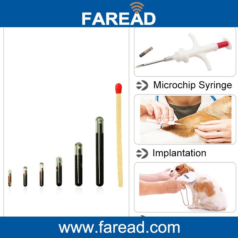 2.12*12mm RFID 134.2KHz FDX-B Microchips for pets LF microchip