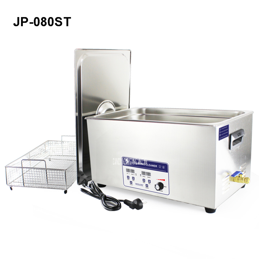 skymen stainless steel bath 22l 480w 40khz ultrasonic cleaner 110 220v cleaner for circuit board printing dyeing instrument JP-080ST 480W 22L Stainless Steel Digital Ultrasonic Cleaner Medical PCB Parts Industry Ultrasonic Cleaner Ultra Sonic Bath