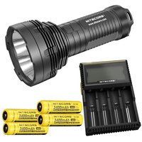 NiteCore TM16GT OI V3 LEVOU 3600 Lumen 4x Cree XP-L lanterna + 4 X nitecore 3400 mah Battrey + nitecore D4 carregador