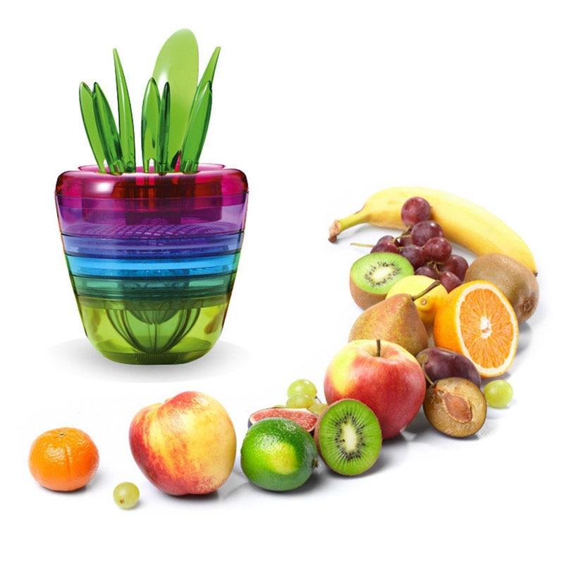 10 Pcs/Set Multifunction Fruits Salad Slicer Cutter Lemon Squeezer Grinder Tools for Apple Avocado Pear Orange TB Sale