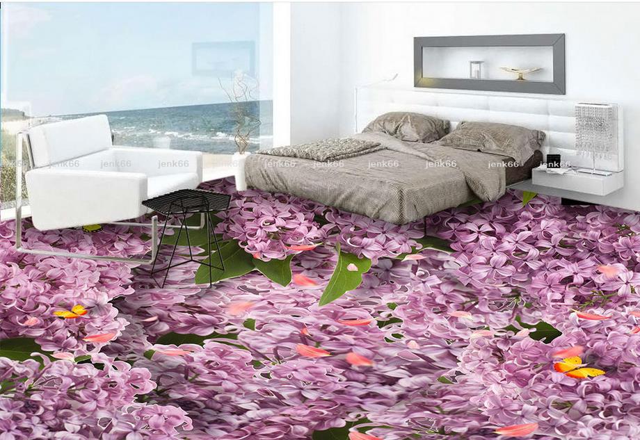 цена на 3D Flooring Wall papers Home Decor Flowers Self Adhesive Wallpaper 3D Floor Painting For Living Room Bedroom 3d wallpaper floor