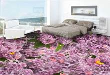 3D Flooring Wall papers Home Decor Flowers Self Adhesive Wallpaper 3D Floor Painting For Living Room Bedroom 3d wallpaper floor(China)