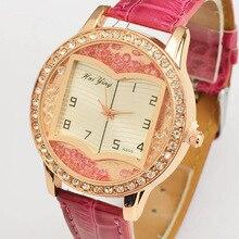 2017 Nueva Moda de Lujo Mujeres Rhinestone Pulsera de Oro Reloj de Cuarzo Vestido de Las Mujeres Señoras Del Reloj de Diamantes Relojes de Pulsera Nave de La Gota