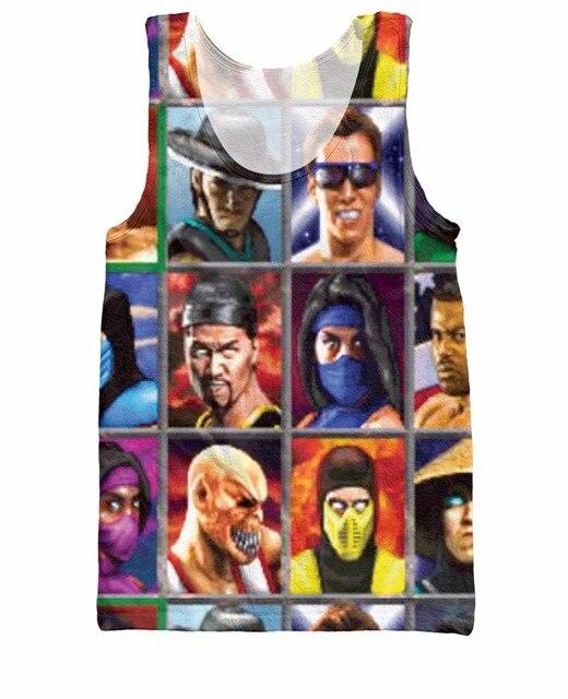 Mortal Kombat RuiYi Elegir Su Tanque de Combate Superior Sub-Cero Kano Johnny jaula de Shang Tsung 3d print Casual Jersey Chaleco Camis Para wom