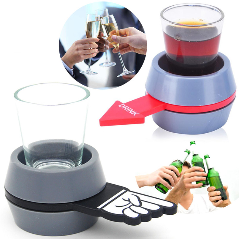 Shot Spinner Toy Bar Gadgets Party Game Beer Wine Kit Spin The Shot Drinking Game Fun We ...