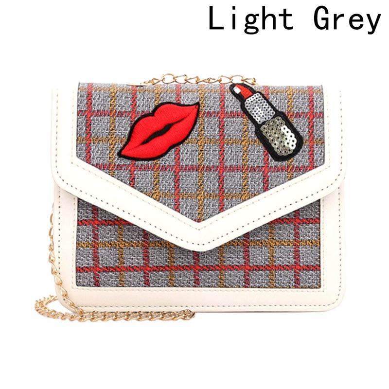 Women Bag Lock Small Chain Fashion Women Lipstick Strap Messenger Bag Simple Shoulder Bag New Korean Embroidery