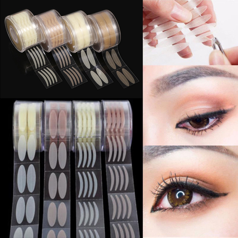 600pcs Instant Invisible Upper Double Eyelid Lift Strip Tape Stickers Adhesive Eyelid Paste Beauty Tool