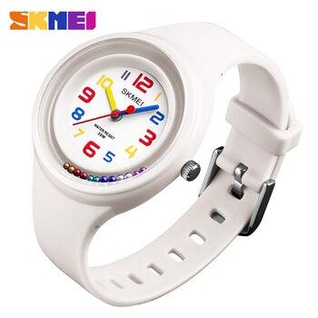 2018 Top luksusowa marka SKMEI dzieci zegarki 50 M wodoodporny zegarek kwarcowy na rękę Jelly dzieci zegar chłopców godziny dziewczyny studenci zegarek