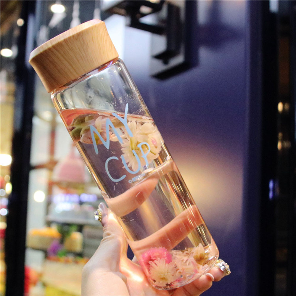 400ml Clear Glass Bottle with Tea Filtration - Trendy21Store