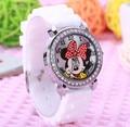 1pcs mouse mickey Brand Children Cartoon wrist Watch Fashions Silicone Sports Watch Ladies Rhinestone Dress Watch relogios
