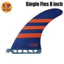 Longboard Fins 8.0 inch Honeycomb Fiberglass Single Fin Surfboard Center