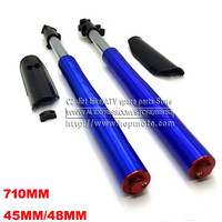 710MM Front Inverted fork shock absorption 45MM/48MM for Chinese Dirt pit bike CRF KLX with protector Cover