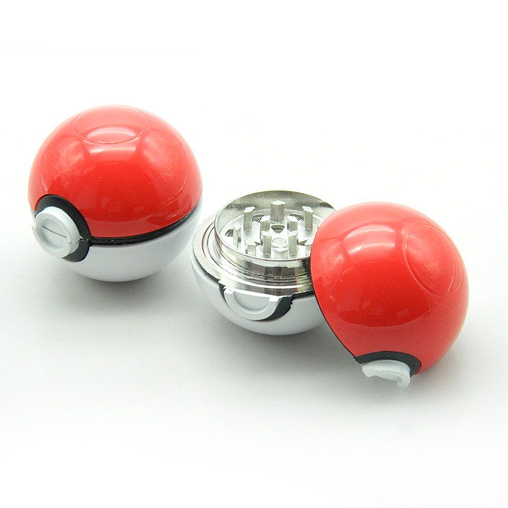 Hot Newest Game Alloy Crusher Pokemon Go Pokeball Pikachu Grinder Mini Herbal Tobacco Hand Muller Herb Grinder 3 layers Metal