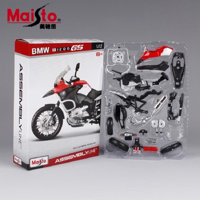 R1200gs motocicleta modelo kits de construção 1/12 brinquedo de presente modelo de montagem da motocicleta motocicleta motocicleta crianças brinquedos crianças brinquedos diy