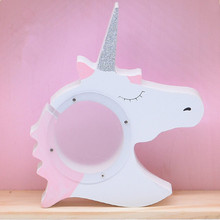 Lucky Unicorn Piggy bank pot Toys Model Creative Baby Kids Room Furnish Articles INS Child Christmas Birthday Gifts