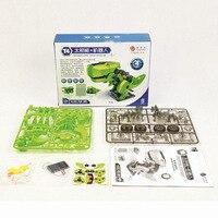 100 Pc IY солнечной энергии 4 в 1 трансформации динозавр Юрского периода насекомых бурильщика робот Солнечная игрушка обучающие игрушки для дет