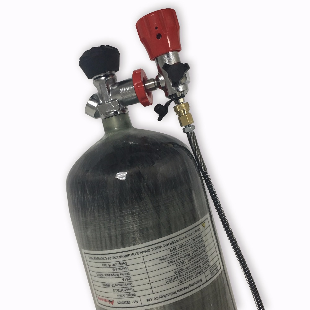 Back To Search Resultssports & Entertainment Air Gun Hunting Paintball Tank 9l 4500psi Compressed Carbon Fiber Scba Tank Cylinder With Valve And Filling Station Cups Acecare
