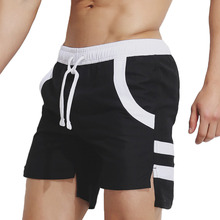 men's beach short pants Sport runing swimming GYM Fitness clothing Swimwear Sweatpants Surfing shorts male Quick Dry workout