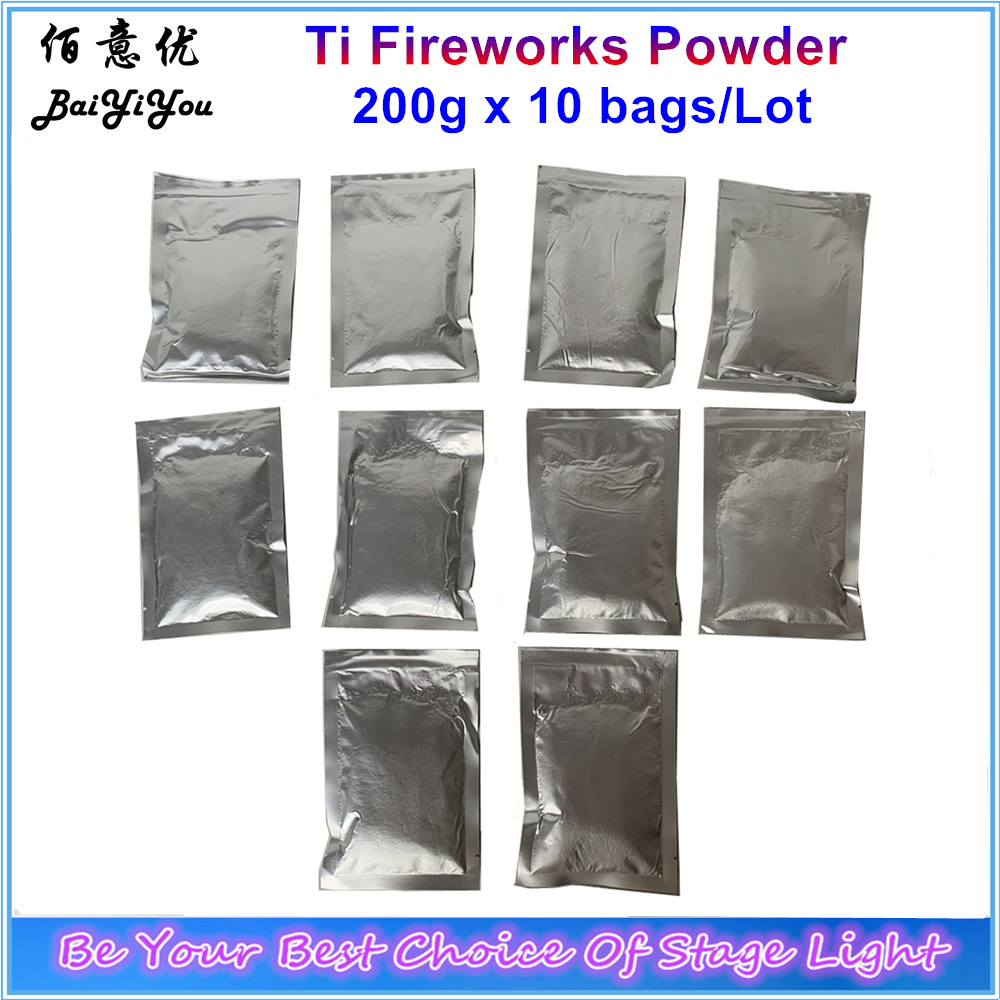 10bags Ti Powder 200g Bag Titanium Metal Powder For Stage Cold Spark Fountain Fireworks Sparkular Machine