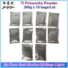 10bags Ti Powder 200g/Bag Titanium Metal Powder For Cold Spark Fountain Fireworks Sparkular Machine Consumables Powder  MSDS