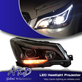 One-Stop Shopping Styling for New Forester LED Headlight 2014 Subaru Forester DRL Lens Double Beam H7 HID Xenon Car Accessories