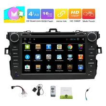 for Toyata Corolla 4-Core Car DVD Player 2Din for Toyata Corolla Android 6.0 Steering-Wheel 1024*600 HD Touch GPS Navigator WIFI