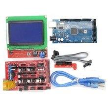 ANYCUBIC Mega2560 REV3 + 1 шт. ПЛАТФОРМЫ 1.4 Контроллер + 12864 ЖК-ДИСПЛЕЙ для arduino комплект MendelPrusa 3d-принтер