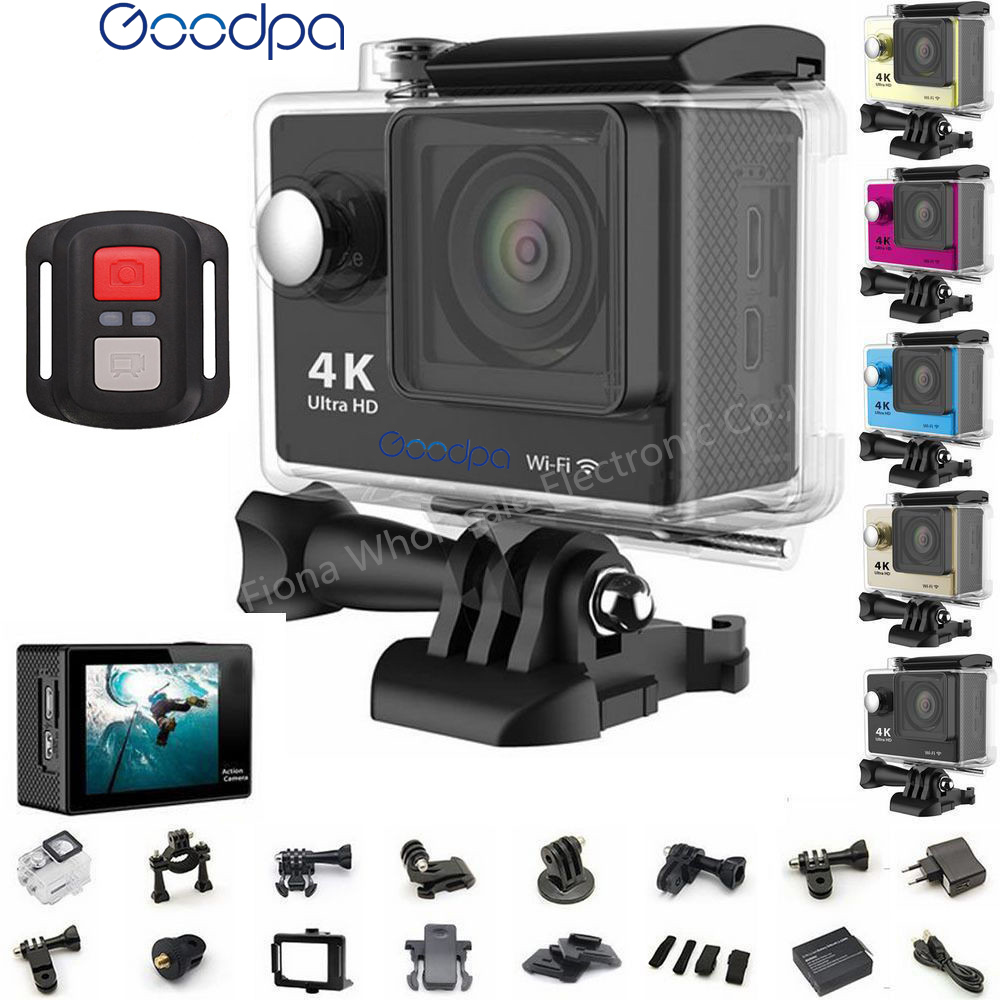 Original GOODPA H9 / H9R Action camera Ultra HD 4K WiFi 1080P/60fps 2.0 LCD 170D lens Helmet Cam waterproof pro sports camera akaso ek7000 action camera ultra hd 4k wifi 1080p 60fps 2 0 lcd 170d lens helmet cam waterproof pro sports camera