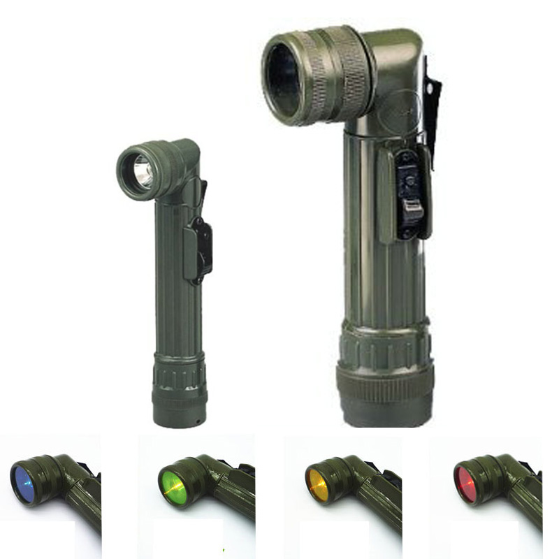 Militär Tactical ficklampa Focus Portable Led Torch Flash Light Lamp Självförsvar Polis Lampe Torche Searchlight för Camping