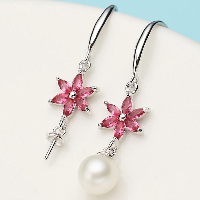Unique Design Hot Pearl Earrings Mountings Drop Earrings Findings Settings Jewelry Parts Fittings Drop Earrings Accessories