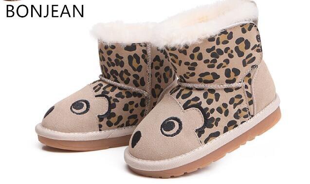 2018 botas de lã inverno botas de neve do bebê das crianças das crianças sapatos 1-2-3 ano de idade do bebê sapatos meninos e meninas botas de lã de ovelha 2554
