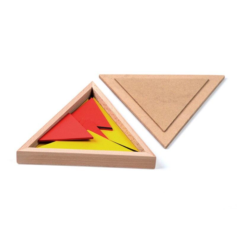 Version familiale bébé jouet Montessori Triangles constructifs avec 5 boîtes éducation de la petite enfance jouets de formation préscolaire - 5
