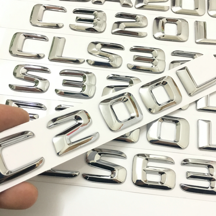 For Mercedes C-Class C180 C200 C220 C260 C280 C300 C320 C Series E Series C200L C260L C300L C63 Trunk Rear Badge Car Styling