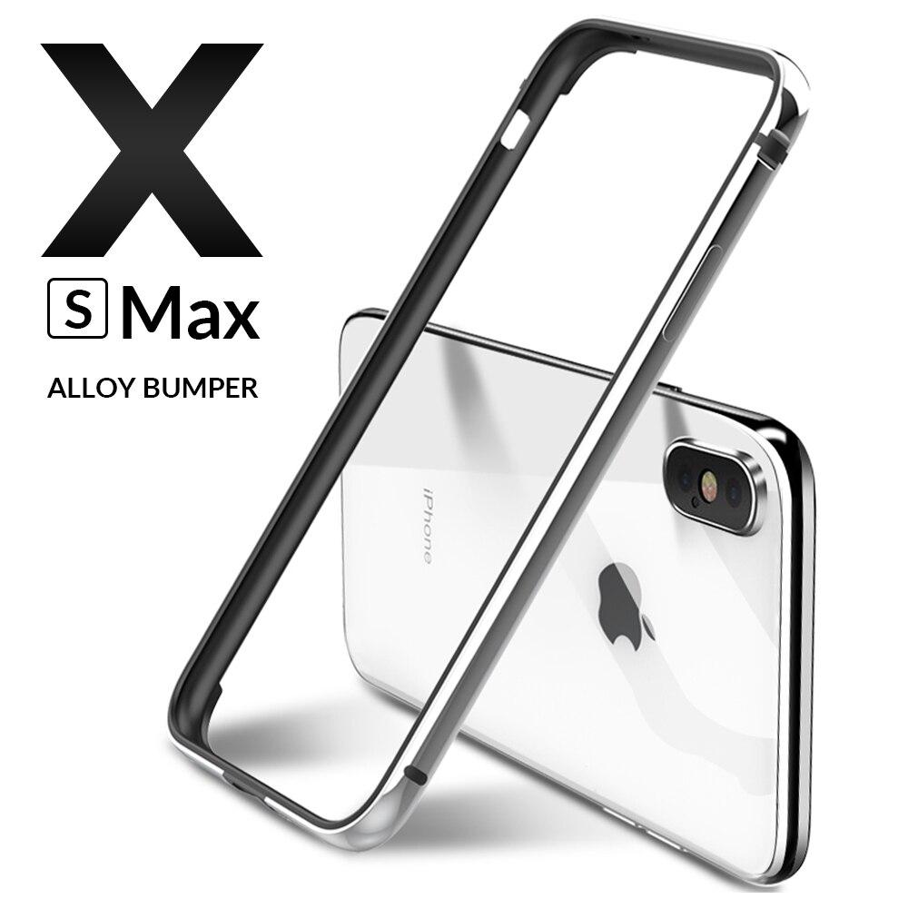 >Luxury Metal Bumper for iPhone X XR XS 11 Pro <font><b>Max</b></font> Case Aluminium Bumper Ultra thin slim Phone Cases For iPhone X <font><b>S</b></font> 11 7 8 Cover