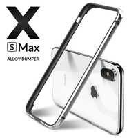 Luxury Metal Bumper for iPhone XR XS Max Case Aluminium Bumper Ultra thin slim Phone Cases For iPhone X S 6 6S 7 8 Cover Coque
