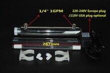 304 الفولاذ المقاوم للصدأ 1GPM الترا البنفسجي منقي مياه/معقم/مياه الصنبور تصفية الأشعة فوق البنفسجية/أداة تعقيم بالأشعة فوق البنفسجية + 11/12 واط أنبوب مصباح الصينية