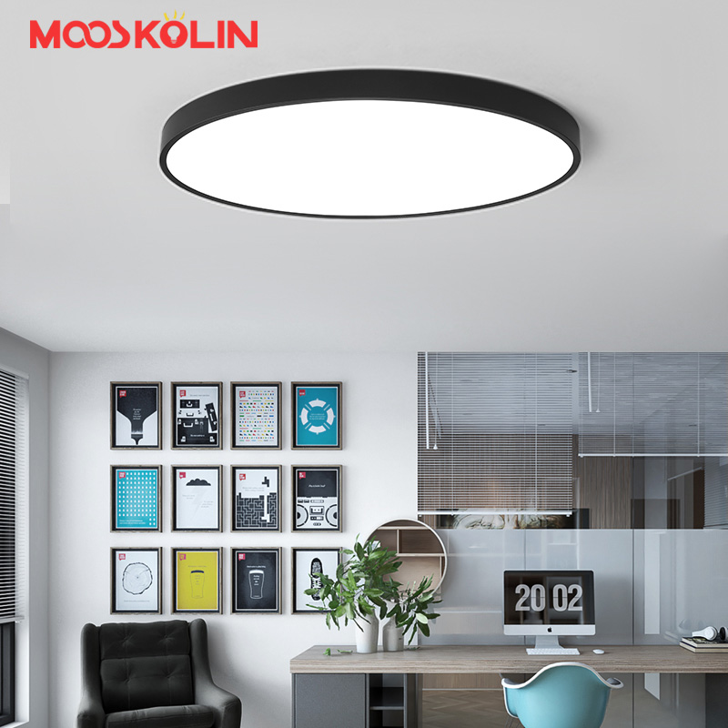 White/Black Oval Modern Led Ceiling Lights For Living Room Bedroom AC85-265V Indoor lighting Ceiling Lamp Fixture luminaria teto led ceiling lights for hallways bedroom kitchen fixtures luminarias para teto black white black ceiling lamp modern