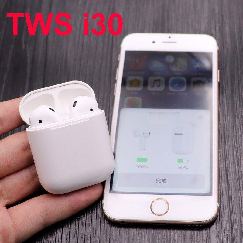 I30 TWS Bluetooth Touch écouteurs PK W1 puce 1:1 taille LK TE9 LK-TE9 écouteur PK i60 i20 tws i30tws i12 tws i88 i13 i15 tws pods