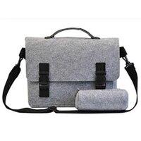 13 Inch Felt Computer Laptop Solid Notebook Tablet Bag Bags Sleeve Messenger Shoulder Unisex Men Women
